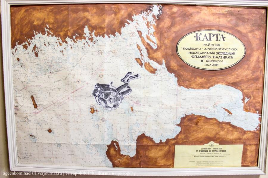 18. Карта экспедиции -Память балтики-