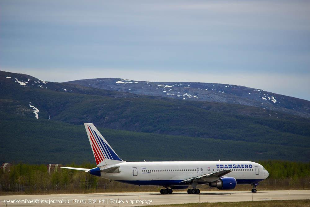 руление Boeing 767-300ER а-к Трансаэро EI-RUY (3 фото)