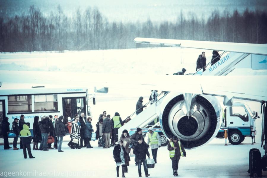 Посадка в самолет авиакомпании Траснаэро