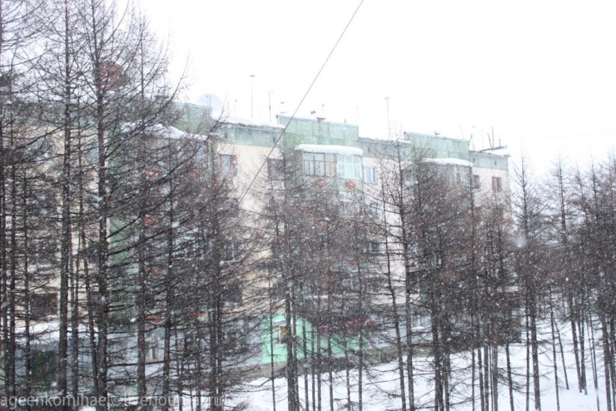 Сильный снег_
