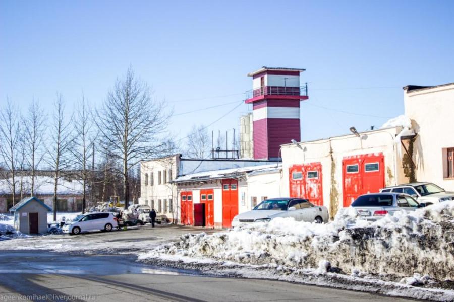 Пожарная часть в аэропорту Сокол