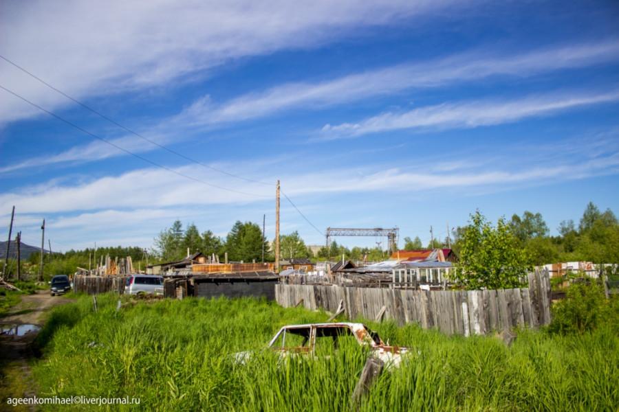Деревня в низине (1 фото)