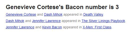 Genevieve Padalecki bacon number