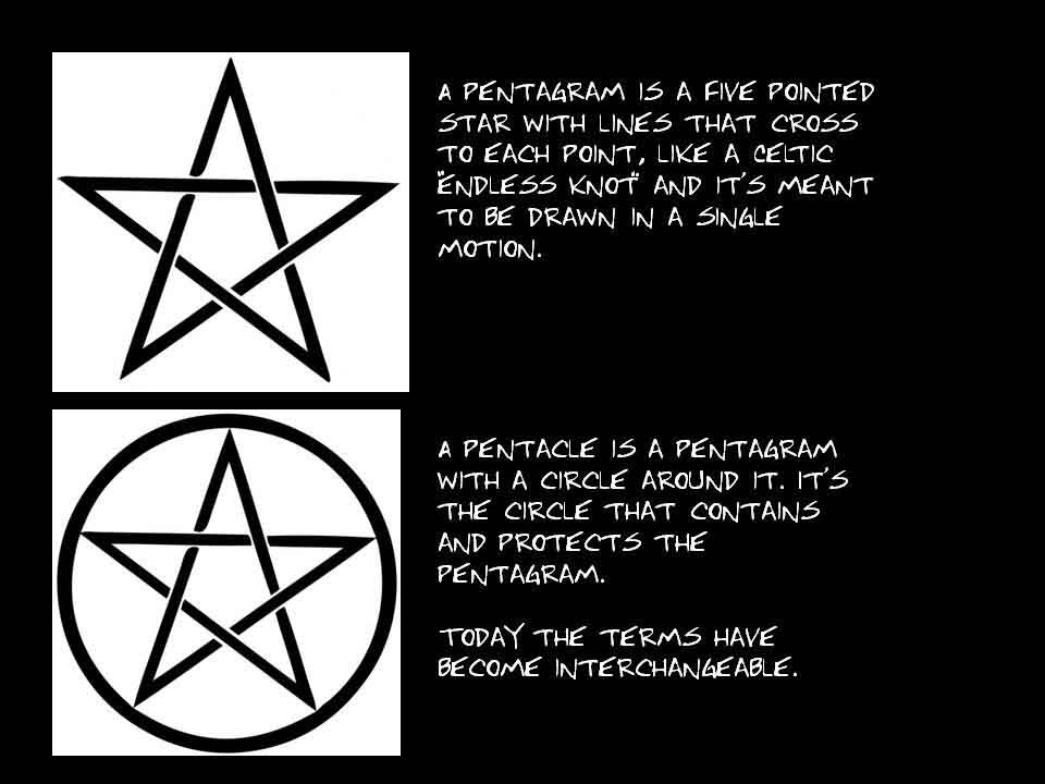 Is It A Pentagram Or Pentacle Spnsymbols