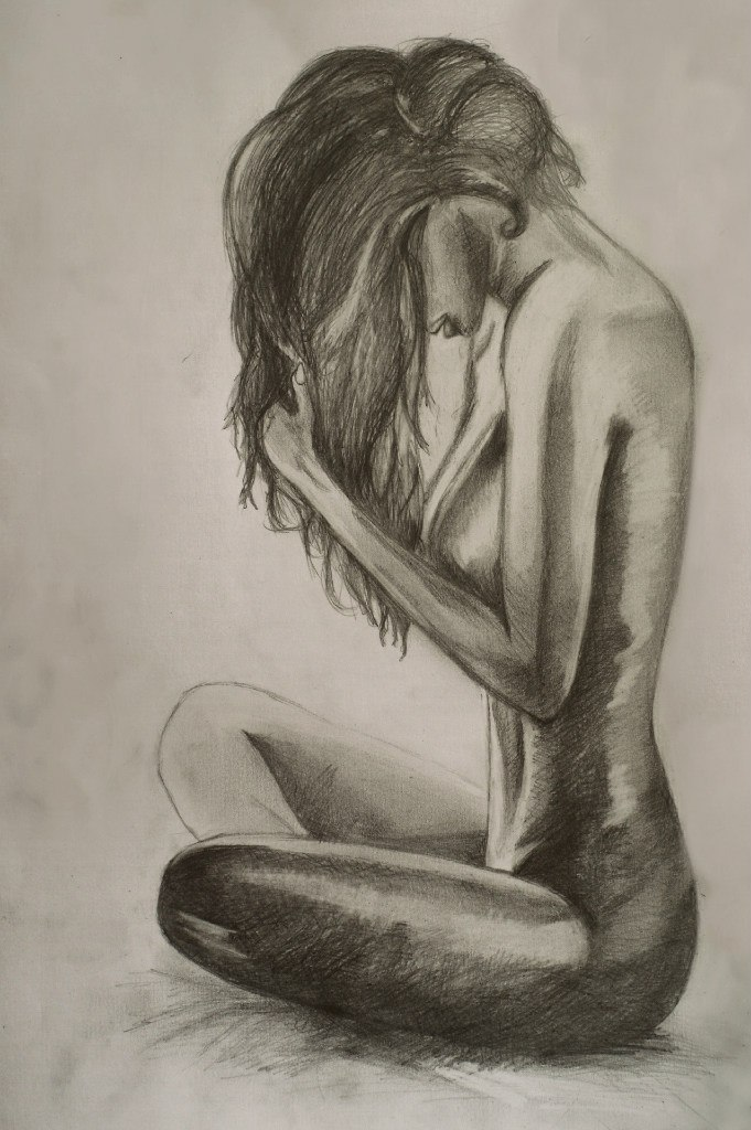 Красивое нарисованное тело девушки картинки