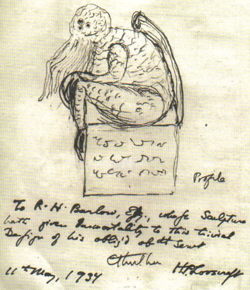 Cthulhu sketch by H. P. Lovecraft