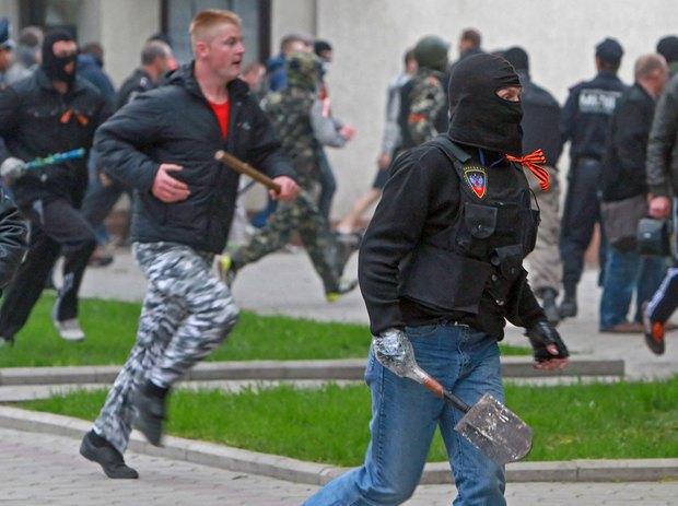 Милиция задержала 8 агрессивных участников столкновений в Донецке - Цензор.НЕТ 7553