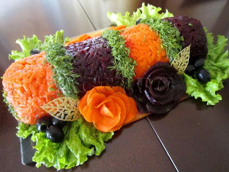 Салат селедка под шубой в рулете пошаговый рецепт с