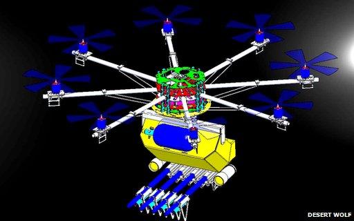 Skunk Drone also fires plastic bullets BBC News Tech 19Jun14