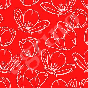 tulip_contour_pattern_red