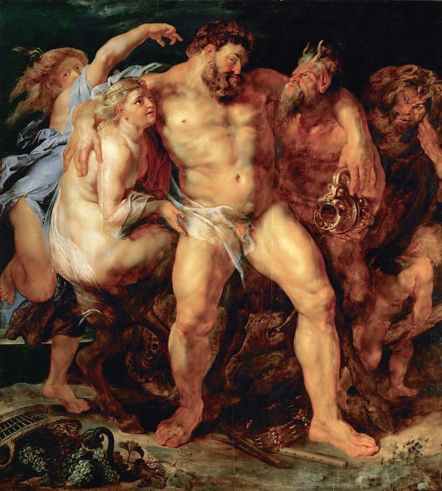 Пьяный Геркулес с нимфами сатирами Питер Пауль Рубенс