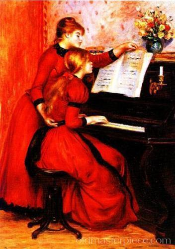 21 Ренуар Девушки за фортепиано1883