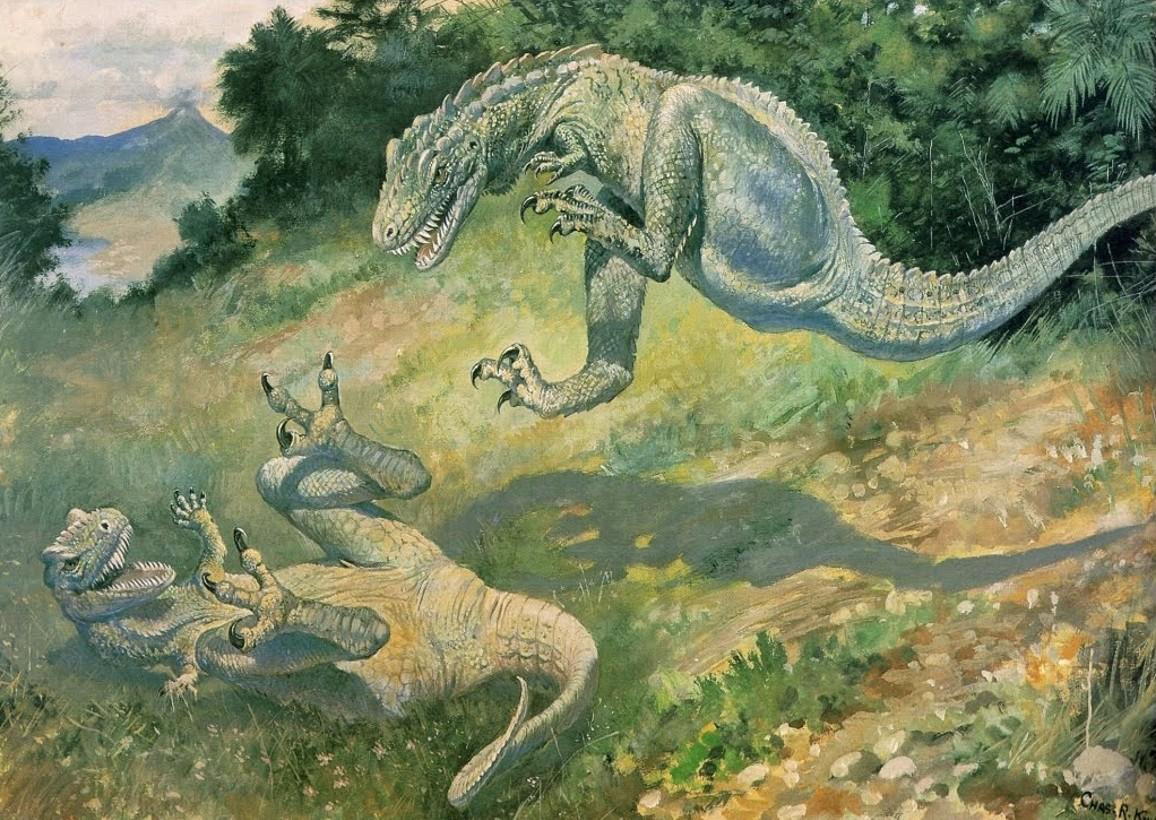 3 Чарльз Найт Драка дриптозавров
