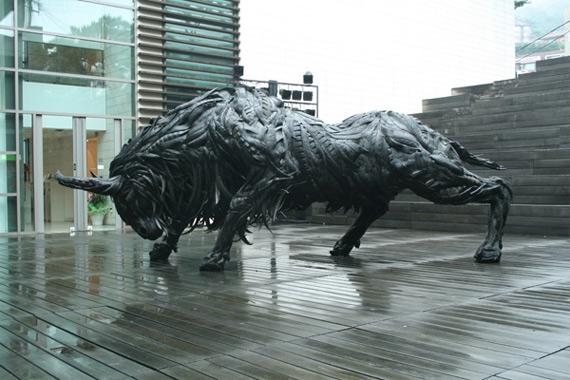 Скульптуры из поркышек Йонг Хо Джи