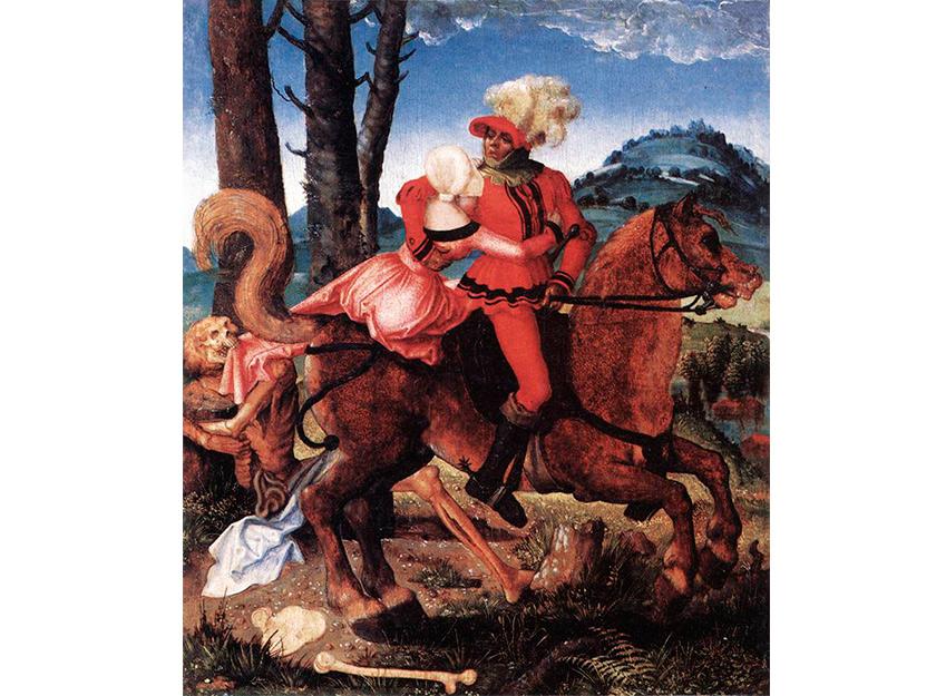 Рыцарь, Девушка и смерть Ганс Бальдунг 1505
