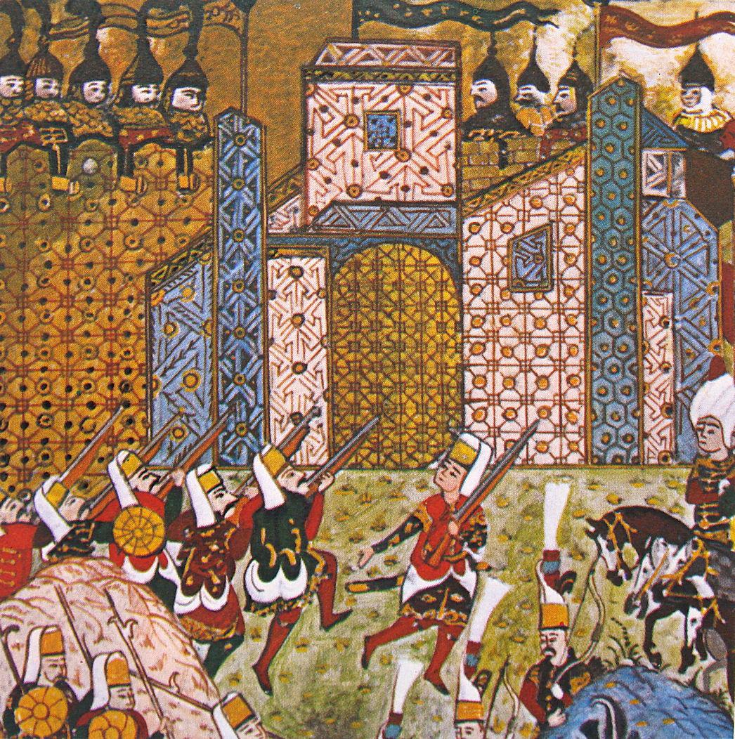 Янычары под стенами Родоса Топкапы