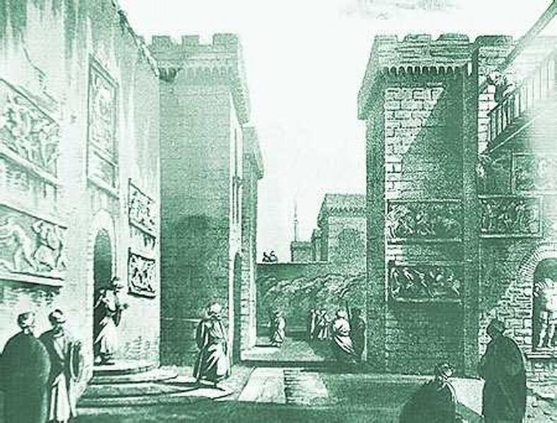 Замок Бодрум на старой гравюре