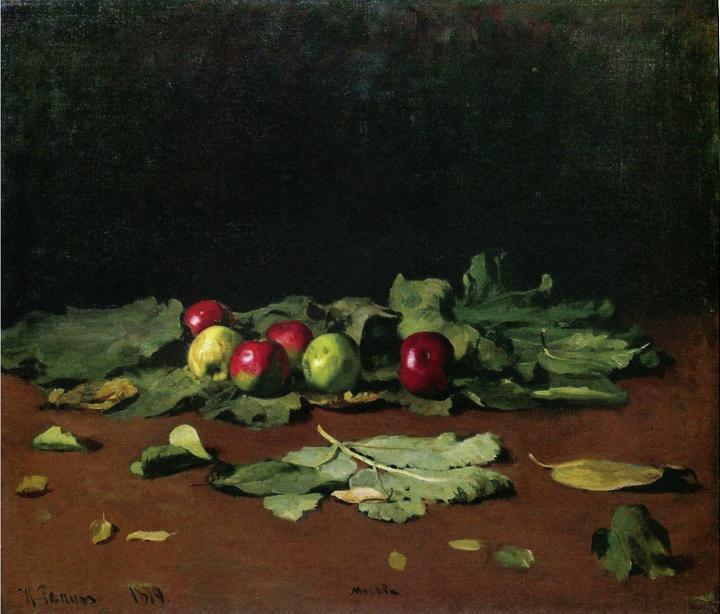 2 Репин яблоки и листья 1879