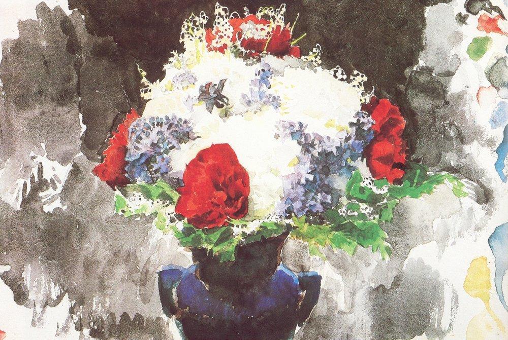 8 1886 Врубель Цветы в синей вазе