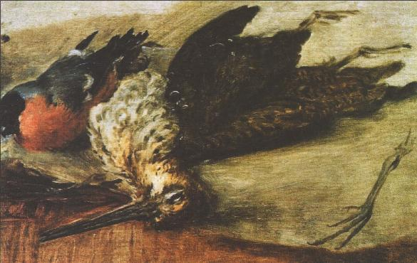 9 Тропинин Дупель и снигирь (этюд), 1820-е