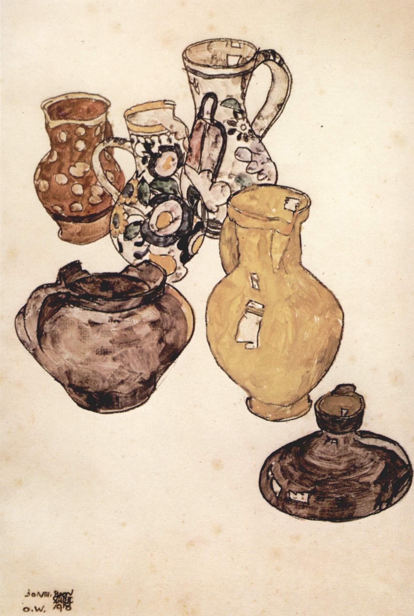 Egon_Schiele_Натюрморт 1918
