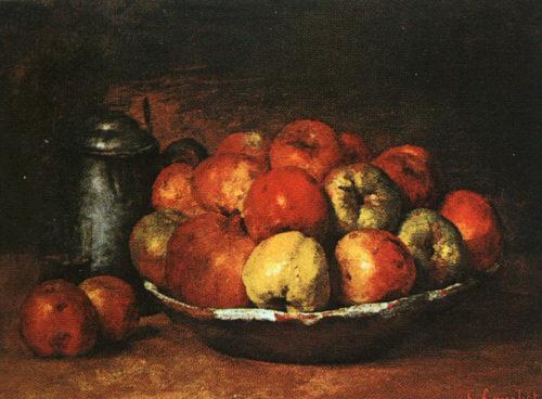 Гюстав Курбе яблоки и гранаты на блюже 1871