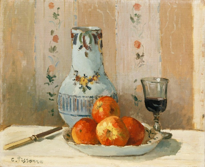 Камиль Писсарро Натюрморт с яблоками и кувшином 1872