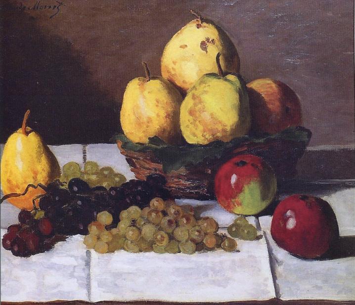 Клод Моне Натюрморт с грушами и виноградом 1867
