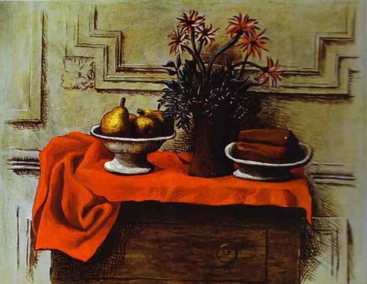 Пикассо 1919 Натюрморт на комоде