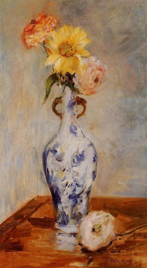 Голубая ваза 1888 Берта Моризо