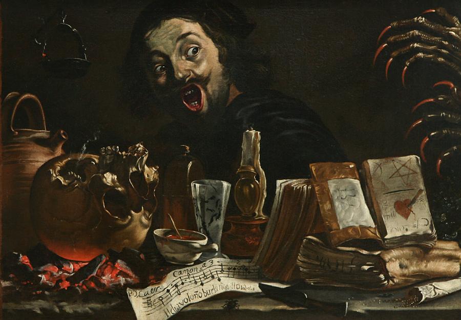 Петер ван Лир Мистическая сцена с Автопортретом 1638