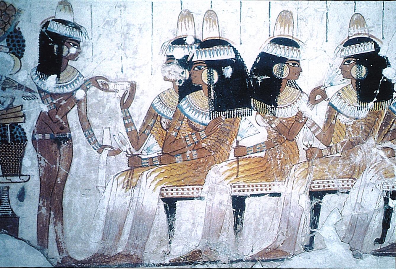 1 1400 Знатные египтянки на погребальном банкете