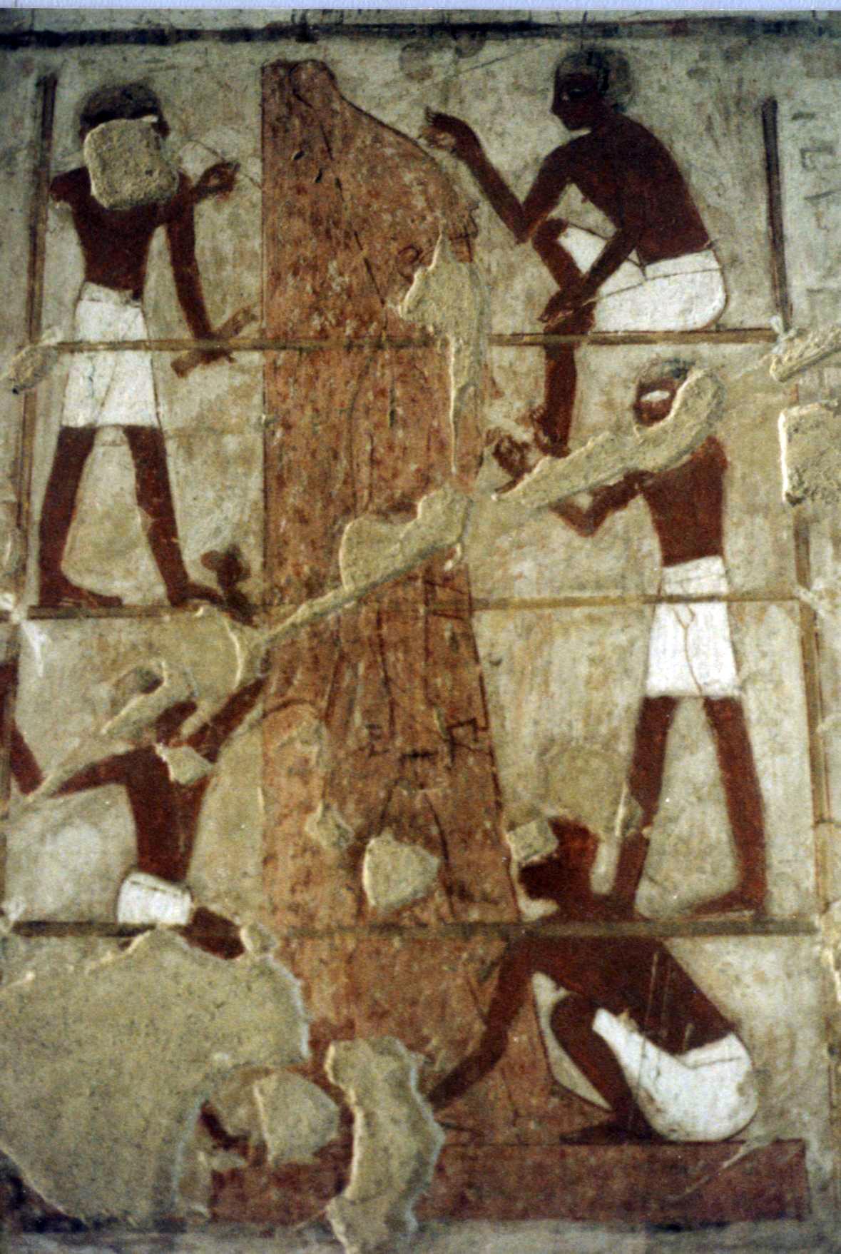 4 Постройка статуи фараона