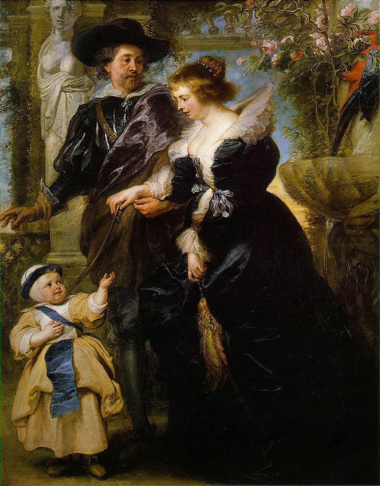 Рубенс женой Еленой и сыном