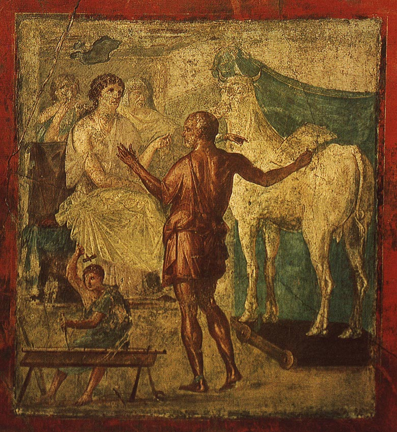 Дедал и Пасифая помпейская фреска