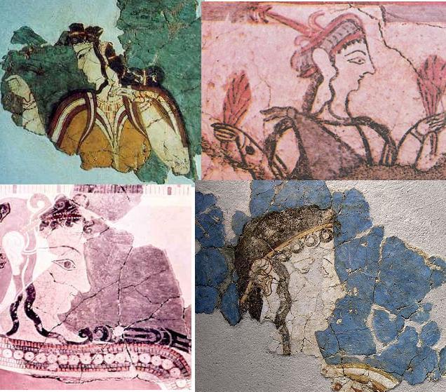 Микенская фрески
