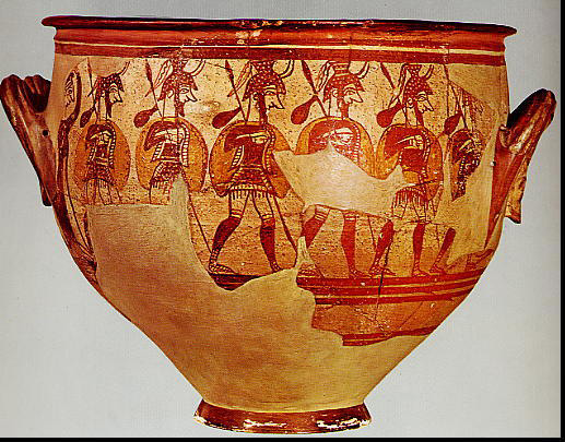 Mycenaean-Warrior-Vase
