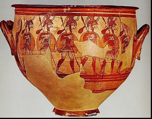 Mycenaean-Warrior-Vase