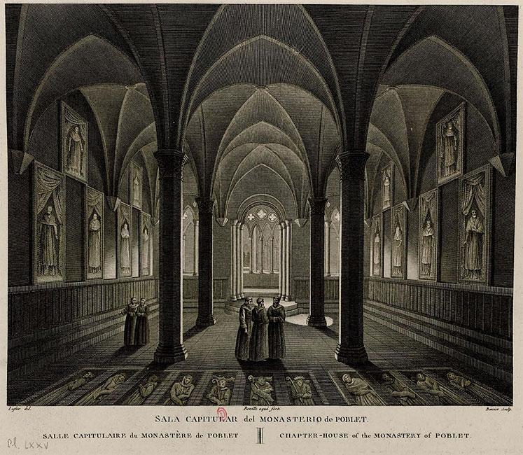 Интерьер монастырской церкви в Поблете, Испания