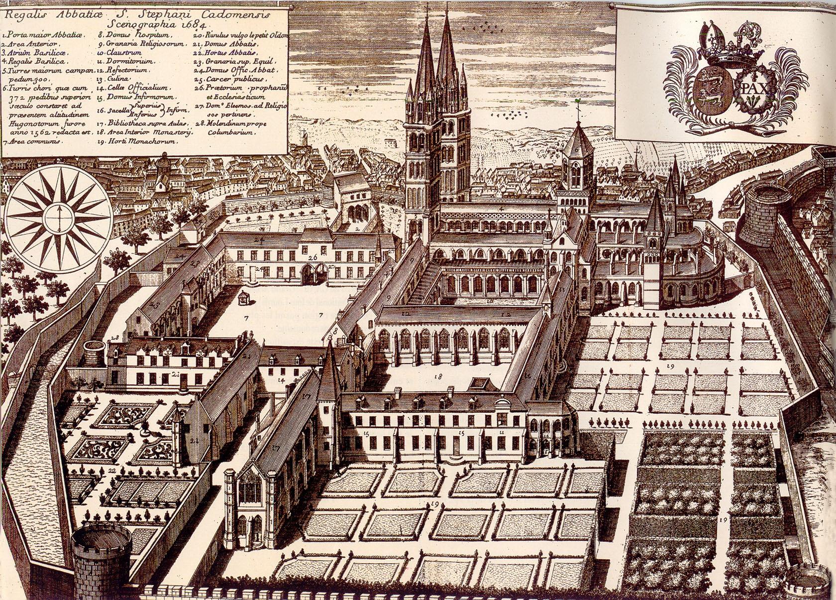 Кан аббатство 1684