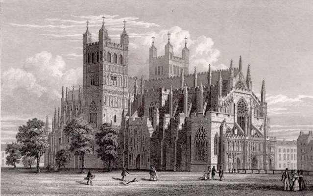 Англия Эксетерский собор