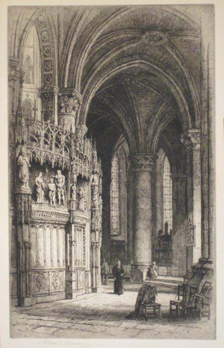 1 замковый камень  Шартрский собор