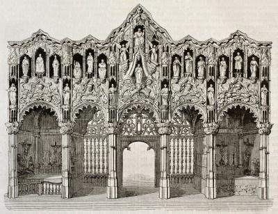 35 Леттнер собора Сент_николас Диксмёйле  Бельгия