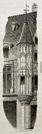 Башня здания Рю-Тампль Париж