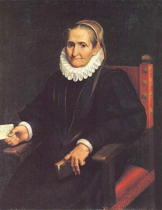 Софонисба Ангиссола, автопортрет (окю. 80 лет) 1610