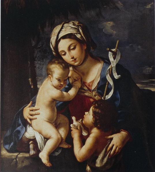 Элизабета Сирани .Мадонна с младенцем