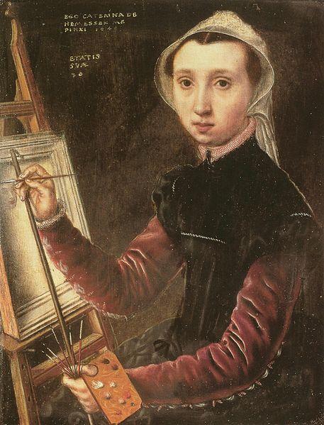 Катарина ван Хемессен автопортрет