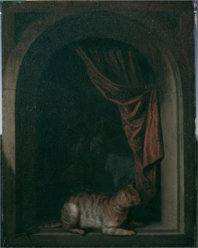 Геррит Доу a-cat-at-the-window-of-a-painters-studios-1657.jpg!Blog