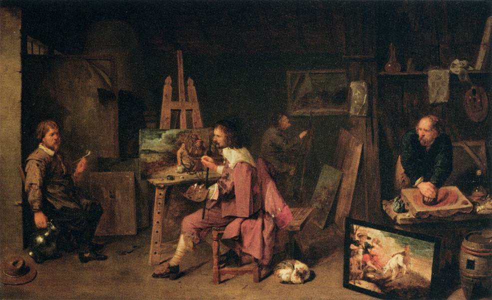 Давид Рейкард млад Painter's Studio
