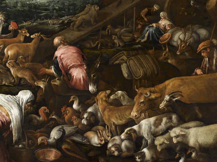 Жероламо Бассано animali entrano nell'arca 24
